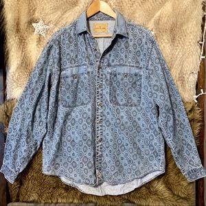 Vintage Levi's Denim Jean Long Sleeve Button Down